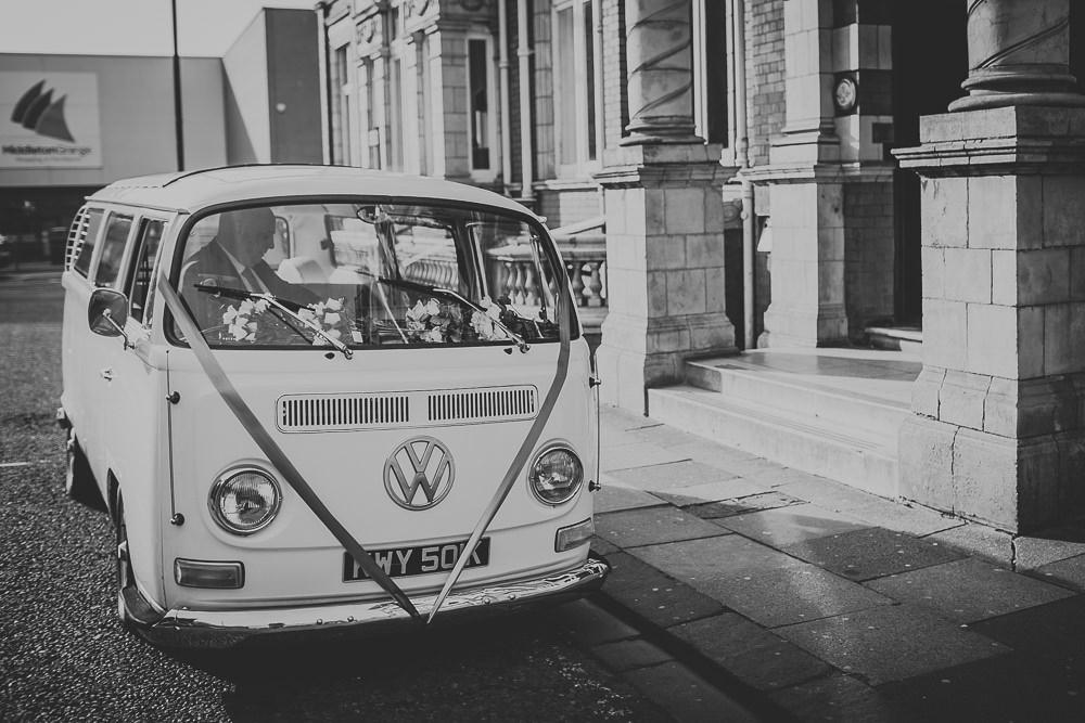 VW Wedding Car Northumberland Wedding Photographer