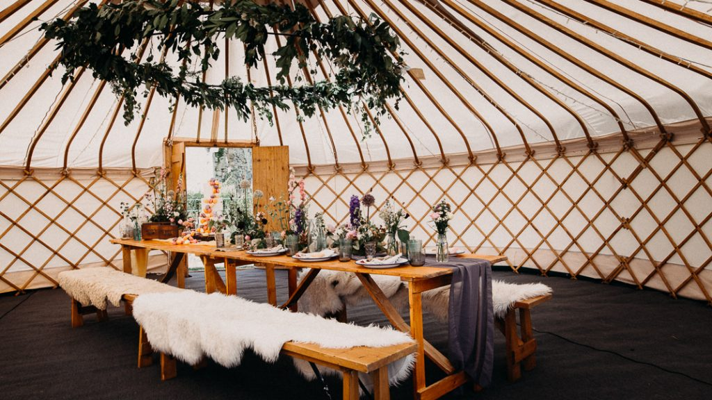 Yurt micro wedding