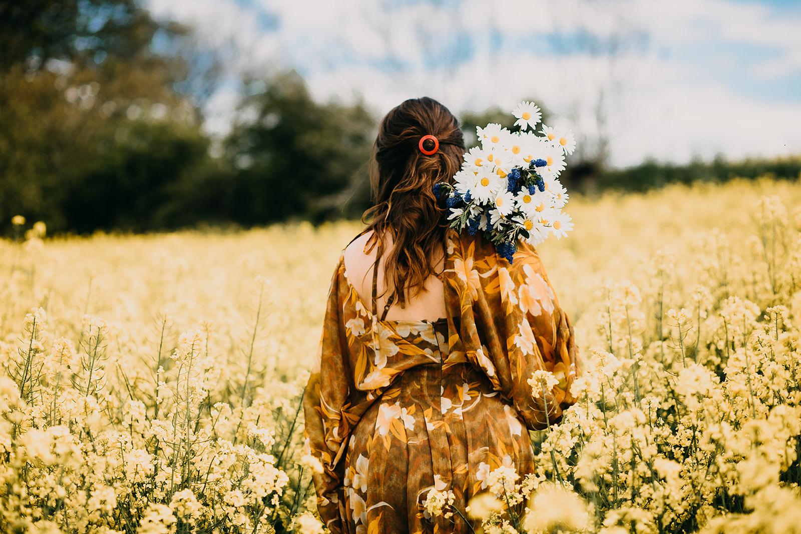 Flowers summer photoshoot Newcastle Maternity Photographer