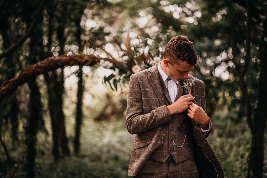 Woodland Wedding Inspiration Groom