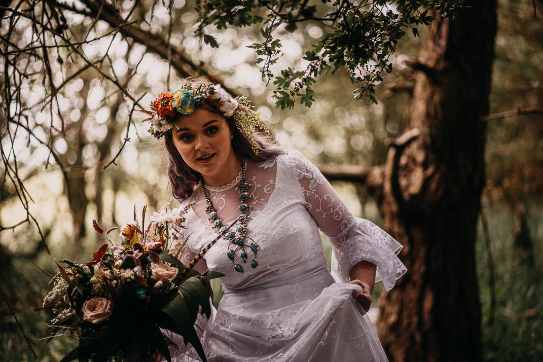 Woodland Wedding Inspiration Bride