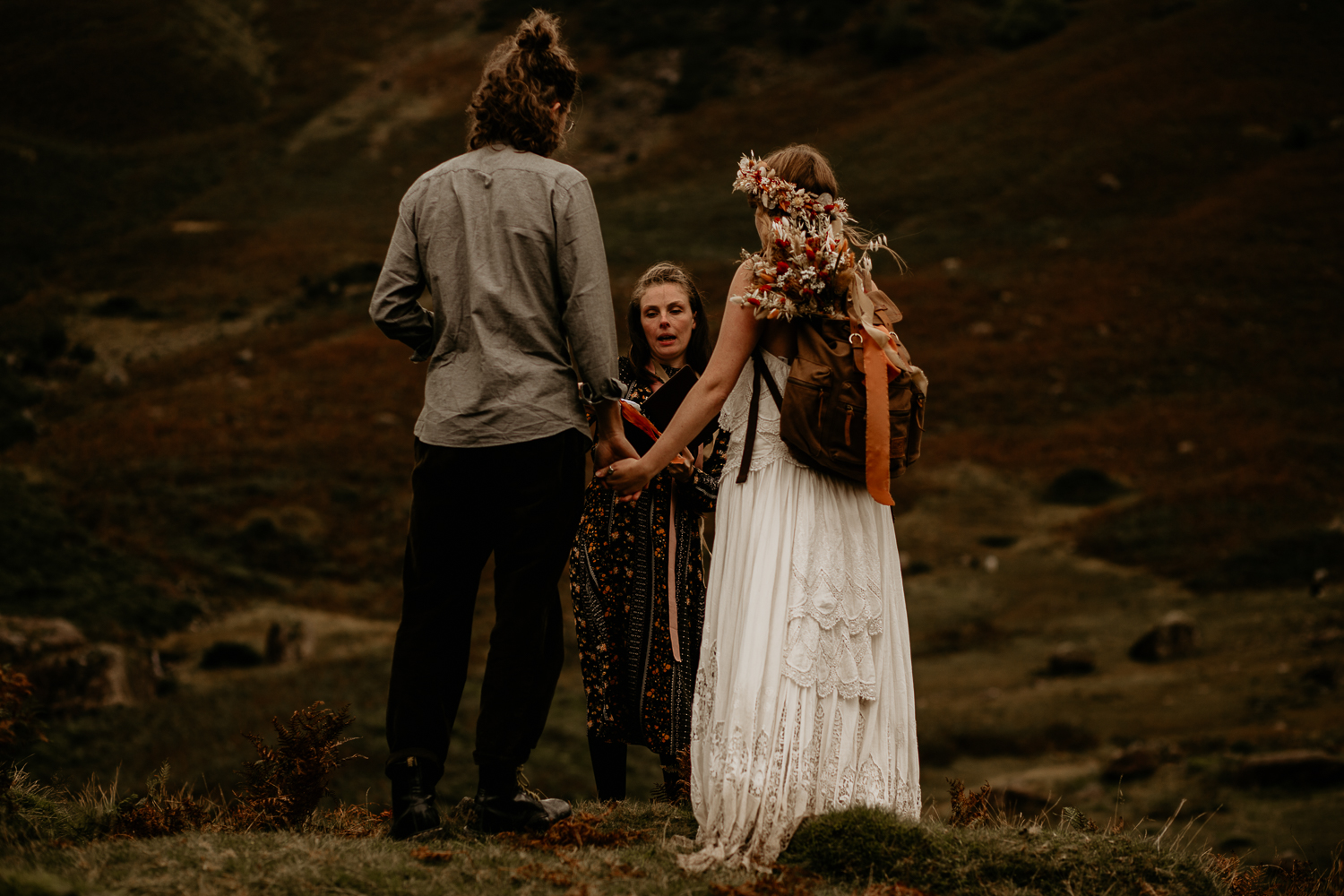 Elopement Hike Hand fasting Ceremony