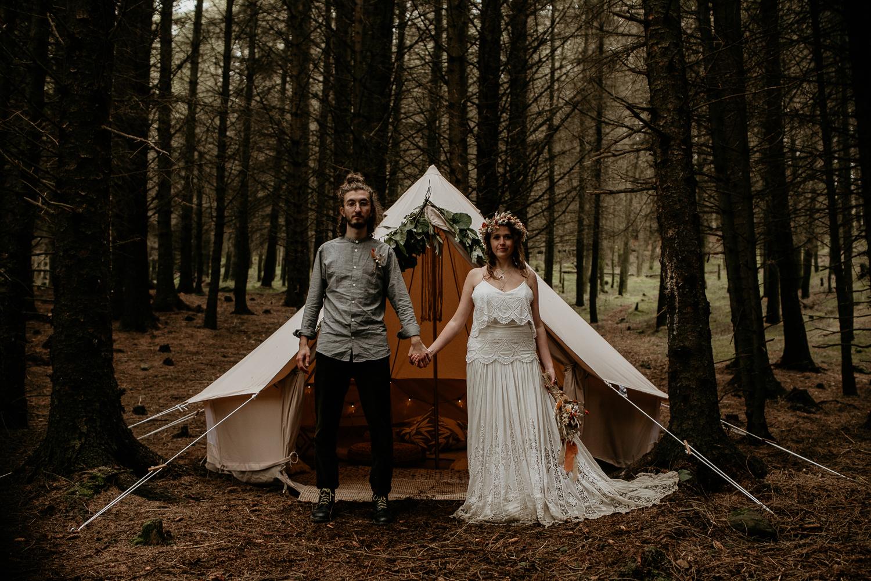 Elopement Hike Bell Tent
