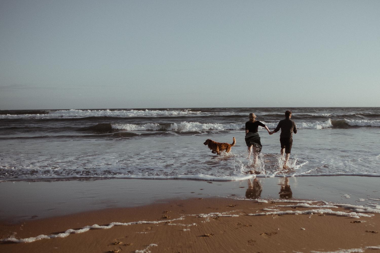 Beach engagement Session Northumberland